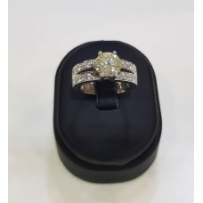 Anillo oro y diamante central de 1.70 cte
